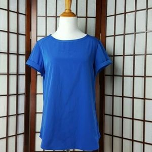 NWT Blue CHICO'S Short sleeve Top